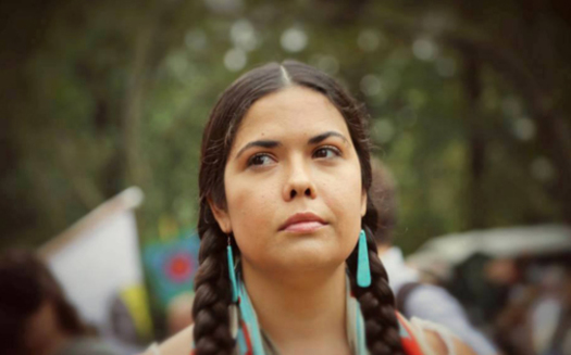 Tara Houska, founder of Giniw Collective, has worked with other tribal activists such as Winona LaDuke in trying to stop the Line 3 oil pipeline project. (Photo courtesy of honortheearth.org)