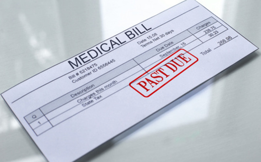 Nearly one in five Americans has an unpaid medical debt currently in collections. (Adobe Stock)<br />