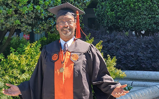 Michael Watkins of Raleigh spent six months in prison for felony breaking and entering in 1988 and the next three decades getting his life on track. He earned a bachelor's degree last year at Campbell University in Buies Creek, N.C. (Michael Watkins)