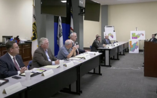The West Virginia Legislature's Joint Committee on Redistricting held its seventh public hearing at the Berkeley County Sheriff's Office meeting room in Martinsburg, Aug. 17. (WV Legislature)