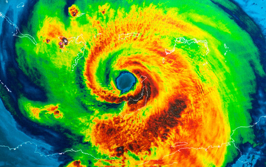 Fifty-eight news segments mentioned Hurricane Ida's rapid intensification, going from a Category 1 to a Category 4 in less than 24 hours, a clear signal of a warming climate, but news outlets failed to report the connection. (Adobe Stock)