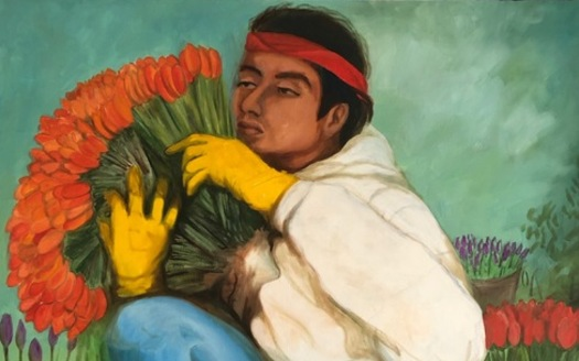 """""""Tulip Harvest"""" by Jesus Guillen was among the work displayed in a retrospective of the artist's life and work. (Kris Ekstrand)"""
