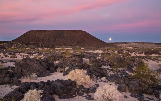 The Amboy Crater, outside Twentynine Palms, is part of the desert habitat that conservation groups hope to protect with funds from a new Desert Conservation Program. (Bureau of Land Management)