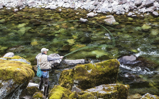Quartzville Creek is among the river sections currently protected as wild and scenic in Oregon, but only about 2% of the state's river miles have that federal designation. (Bob Wick/Bureau of Land Mgmt.)