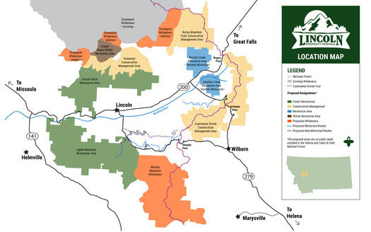A collaborative has proposed managing 200,000 acres of public lands along the continental divide near Helena, MT. (Lincoln Prosperity Group)