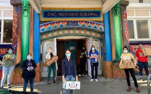 The Women's Building in San Francisco, which runs a food pantry, also offers financial literacy classes in conjunction with Self Help Federal Credit Union. (SHFCU)