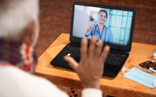 In April 2020, half of all eligible visits were performed via telehealth. (Adobe Stock)