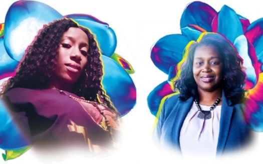 Roneisha and Tia are two moms receiving guaranteed incomes as part of the Magnolia Mother's Trust. (Art by Brandi Phipps/Ms. Magazine)