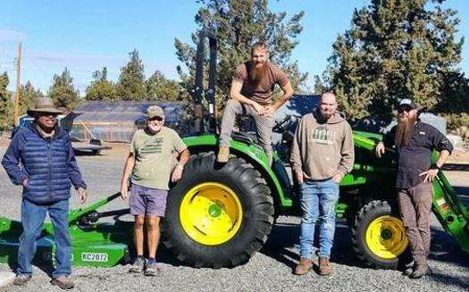 Veterans working on a central Oregon ranch supply produce for a restaurant in Bend. (Central Oregon Veterans Ranch)