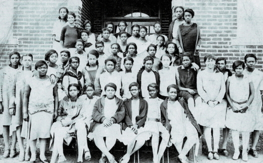 Lakeland High School Class of 1930. Maryland's Lakeland was a once-thriving Black community that was destroyed by urban renewal in 1975. (Lakeland Community Heritage Project)<br />