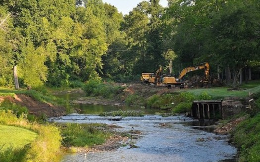 In October 2018, Hurricane Michael inundated Surry County, N.C., increasing sediment in the Mitchell River Watershed. (Resource Institute)