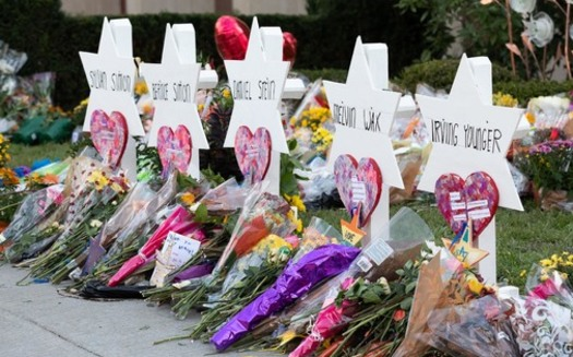 The shooting at the Tree of Life Synagogue occurred in the Squirrel Hill neighborhood of Pittsburgh, killing 11 and injuring six people on Oct. 27, 2018. (Official White House Photo by Andrea Hanks)