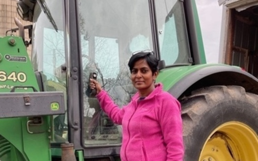 Esther Shekinah is a research agronomist at the Michael Fields Agricultural Institute, leading a project in Wisconsin to bring more women landowners into the world of conservation. (MFAI)