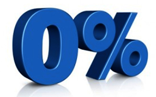 Image: Zero percent graphic