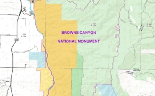 GRAPHIC: A map of the proposed Browns Canyon National Monument and Wilderness Area.