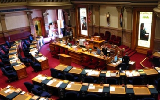Photo: Senate chamber, Colorado State Legislature, which wrapped up its session Wednesday. Credit: Greg O'Brien.