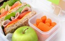 PHOTO: Nutritionists recommend including some combination of two fruits and two vegetables in a child's lunchbox, and having them help with the selection and lunch-packing process. Photo courtesy of HealthyChild.org.