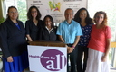 PHOTO: At an event in Framingham, a new effort was launched this week to find and enroll Massachusetts school kids in health insurance plans. The Back to School campaign is targeting communities where English is a second language. Photo courtesy of Health Care for All.