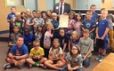 PHOTO: Judge Mark Smith of Hendricks County meets with students as part of the Indiana Supreme Court's Constitution Day program. Photo courtesy of Indiana Supreme Court.