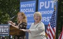 """PHOTO: The """"Koch Sisters"""" are speaking out around the country, like this rally in Washington, D.C. Their notorious last name has given Joyce Koch, left, and Karen Koch an unexpected push into the spotlight as spokeswomen for seniors and middle-class families. Photo courtesy of the Koch Sisters."""