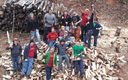 PHOTO: Students from Michigan Technological University lent a hand chopping wood to help keep the elderly warm this winter, one of thousands of this year's Make a Difference Day projects. Photo credit: R. Jansen.