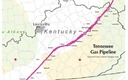 MAP: The path of the Tennessee Gas Pipeline through Kentucky. An energy conglomerate wants to repurpose the natural-gas transmission line to transport natural-gas liquids from fracking. Map courtesy Kentuckians for the Commonwealth.