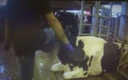 PHOTO: A dairy supplier for an Ohio cheese company is shown kicking a cow in an undercover video shot on a Wisconsin dairy farm. Photo courtesy of Mercy for Animals.