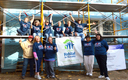 PHOTO: About a dozen MAPE members traded their state agency cubicles for a day on a construction site with Habitat for Humanity, building a home for a family in need. Photo credit: MAPE.