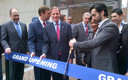 PHOTO: U.S. Sens. Richard Blumenthal and Chris Murphy join Small Business Association (SBA) New England Regional Administrator Seth Goodall at ribbon ceremony cutting marking the opening of seven new, local New Haven businesses. Photo courtesy of the SBA.