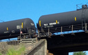 PHOTO: About two-thirds of the crude oil shipped by rail in the United States is transported in DOT-111 tank cars. A lawsuit alleges they aren't sturdy or safe enough for that purpose, and asks the U.S. Department of Transportation to ban their use for oil shipment. Photo courtesy of the U.S. Department of Transportation.