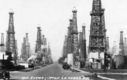 PHOTO: Oil wells near La Habra Heights, Calif., are nothing new; this photo is from the 1920s. But residents will vote in March on rules to restrict new oil and gas development, and also such high-intensity drilling techniques as fracking. Photo courtesy of Orange County Archives.