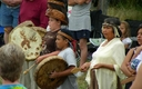 PHOTO: Members of the Swinomish Tribe, seen here at a tribal ceremony, are concerned that long trains of oil tank cars are crossing their reservation every week, a development the Tribe says violates its 1991 easement agreement with a rail company. Photo credit: Leslie Dierauf/U.S. Geological Survey.
