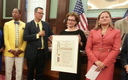 PHOTO: CIDNY's Susan Dooha of the Center for Independence of the Disabled New York received a proclamation at New York's City Hall on Thursday in honor of her group's efforts to help New Yorkers at the 25th Anniversary of the Americans with Disabilities Act. Photo courtesy Center for Independence of the Disabled New York.