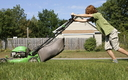 Doctors says lawn-mower-related injuries to children are completely preventable with proper safety measures and common sense. Credit: Linda Kloosterhof.