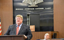 Supreme Court Justice Brent Benjamin says the state's drug courts, such as this one serving Calhoun and Roane counties, are producing good results. But he says the state has to do more in prevention. Credit: West Virginia Supreme Court of Appeals