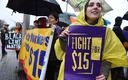 Connecticut nursing home workers joined the Fight for 15 movement earlier this year. Courtesy: SEIU 1199