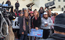 Promise Arizona director Petra Falcone (center, at microphone) was at a rally at the U.S. Supreme Court last week to push for the justices to hear the appeal of President Obama's executive order on immigration. (Promise Arizona)
