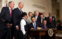 PHOTO:  President Obama signing the Patient Protection and Affordable Care Act on March 23, 2010. Deadline for enrolling for health insurance through the ACA is March 31st. Photo credit: Wikipedia