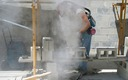PHOTO: Workers are exposed to silica dust in construction industries. OSHA is proposing rules to minimize exposure, since the dust is linked to chronic respiratory illnesses and deaths. Photo: New Jersey Dept. of Health