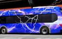 PHOTO: Several electric buses now serving Northern Nevada are expected to save millions of dollars in fuel and maintenance costs. Photo courtesy Regional Transportation Commission of Washoe County.\