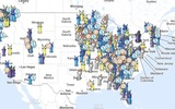 GRAPHIC: A map showing the variety of ways and locations local governments have invested in wired telecommunications networks. Advocates say communities and nonprofits offer competition to private-sector cable and fiber-optic companies. Photo credit: Community Broadband Networks.