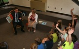 PHOTO: Missouri Secretary of State Jason Kander has been popping in at local libraries to read to children as part of the