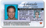 PHOTO: The state-issued driver's license will bear a slightly different banner than the standard Colorado driver's license. Courtesy: CO DMV