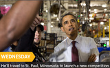 PHOTO: President Obama is speaking in Minnesota today (Wednesday) on transportation and the economy as he continues his