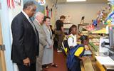 Photo: Children go through the breakfast line at Blanche H. Daughtrey Elementary School, Manatee County, Bradenton, Fla. Courtesy: Letsmove.gov