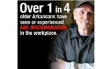 GRAPHIC: According to a new poll performed for AARP, many older Arkansans report age discrimination.  Graphic courtesy AARP.