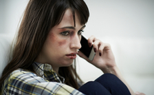 The AVOICE hotline provides legal help in Texas for victims of domestic abuse and other violent crimes. (Highwaystarz/iStockphoto)
