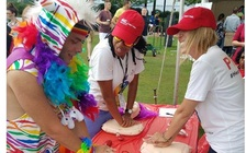 The American Heart Association is ramping up its health outreach to the LGBTQ community, which included a booth at the Hampton Roads Pride event. (MeShall Hills/American Heart Assn.)