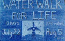 The Water Walk for Life will travel 170 miles in 13 days, following the proposed pipeline route. (Andy Cross)
