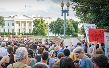 Organizers have held or are planning almost 1,000 Stand With Charlottesville events nationally, including one in front of the White House. (Ted Eytan/Wikipedia)